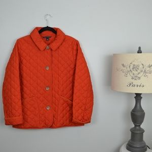 Banana Republic puffer jacket/coat bright orange